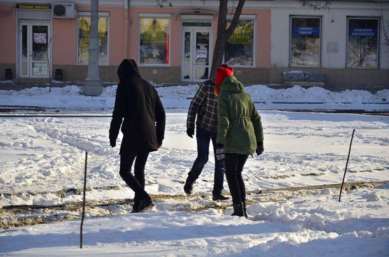 В Одессе снег завершил ремонт Тираспольской площади (ФОТО), фото-10