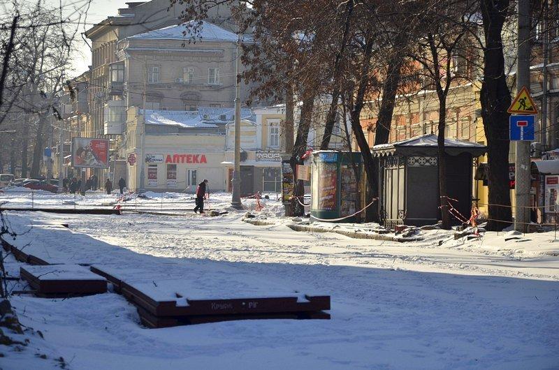 В Одессе снег завершил ремонт Тираспольской площади (ФОТО), фото-13