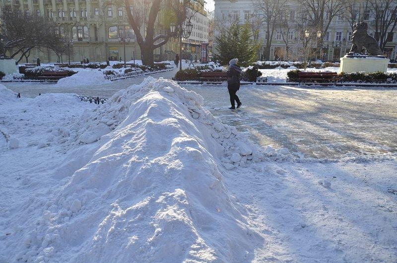 В Одессе не справляются с уборкой снега на улицах (ФОТО, ОПРОС), фото-26