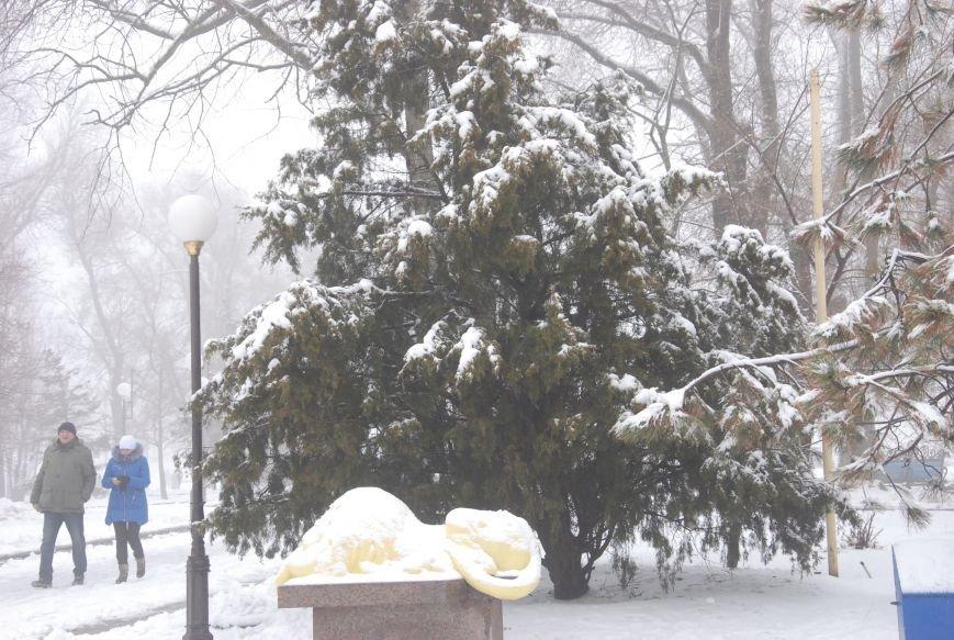 В Бердянске выпал снег (ФОТОРЕПОРТАЖ), фото-8