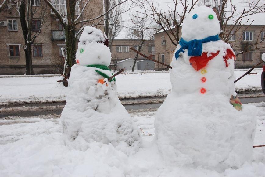 В Бердянске выпал снег (ФОТОРЕПОРТАЖ), фото-11