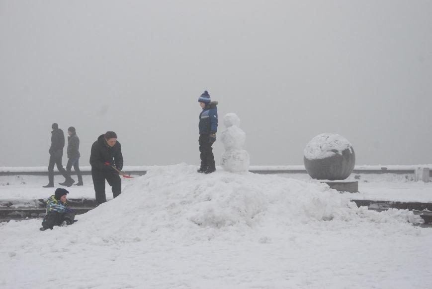 В Бердянске выпал снег (ФОТОРЕПОРТАЖ), фото-10