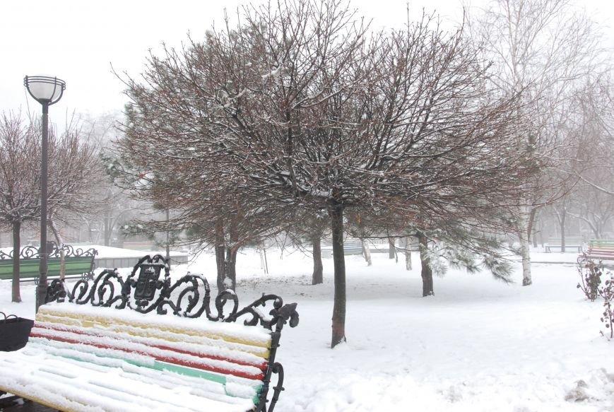 В Бердянске выпал снег (ФОТОРЕПОРТАЖ), фото-6
