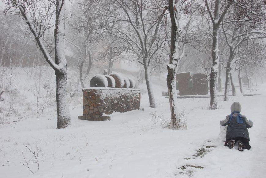 В Бердянске выпал снег (ФОТОРЕПОРТАЖ), фото-1