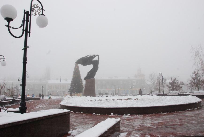 В Бердянске выпал снег (ФОТОРЕПОРТАЖ), фото-5