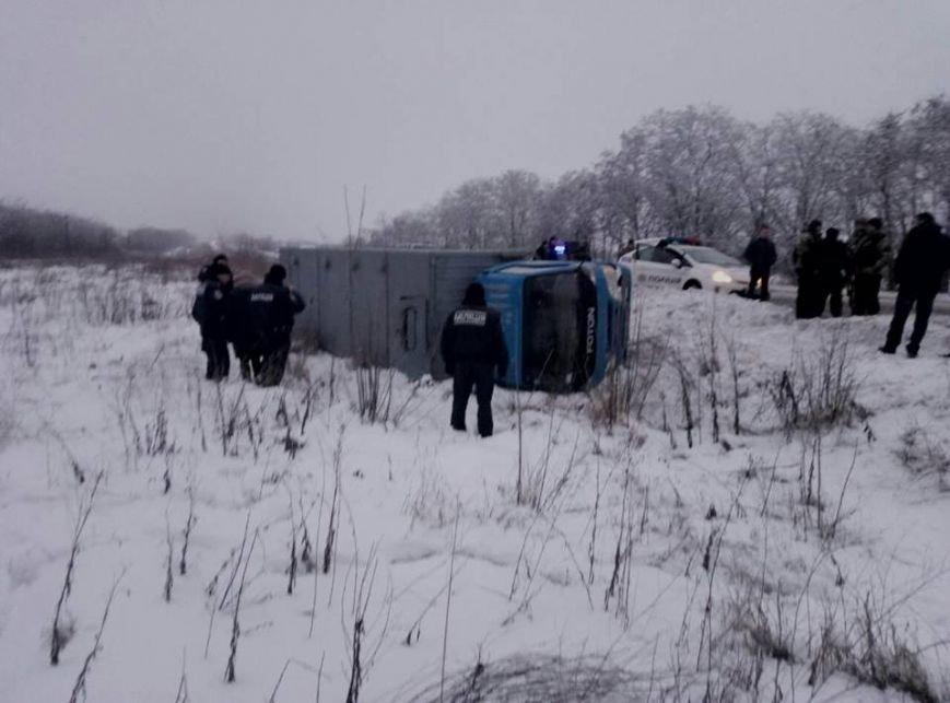 Под Запорожьем перевернулся автозак: пострадал заключенный, - ФОТО, фото-2
