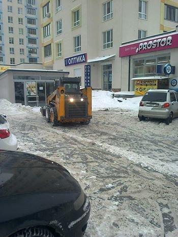 Уборка снега в Вишневом, фото-1