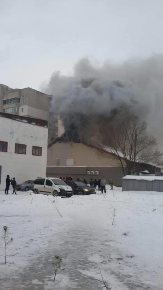 В Сумах горит здание тренажерного зала «В-tone» (ФОТОФАКТ), фото-2