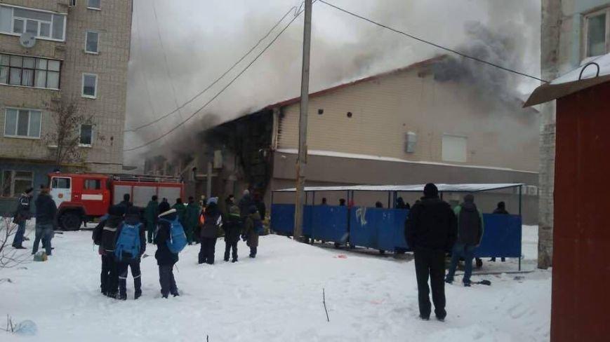 В Сумах горит здание тренажерного зала «В-tone» (ФОТОФАКТ), фото-1