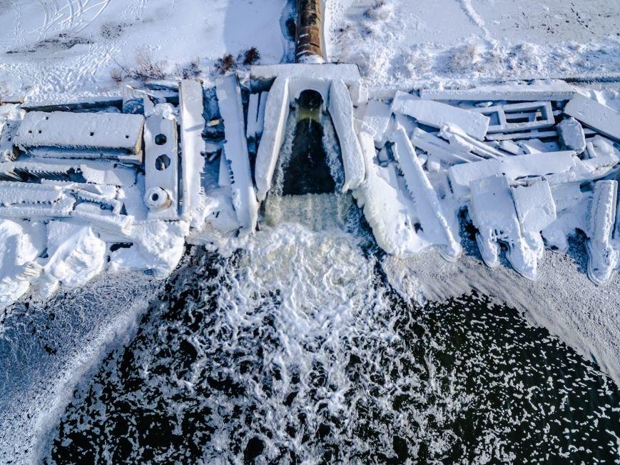 Красивые фото: В Одессе замерз Хаджибейский лиман (ФОТО), фото-3