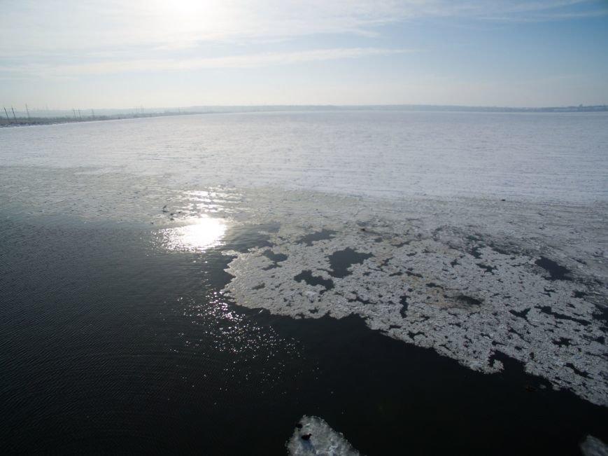 Красивые фото: В Одессе замерз Хаджибейский лиман (ФОТО), фото-5