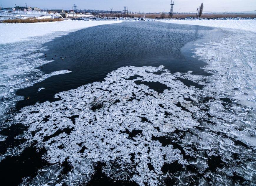 Красивые фото: В Одессе замерз Хаджибейский лиман (ФОТО), фото-7