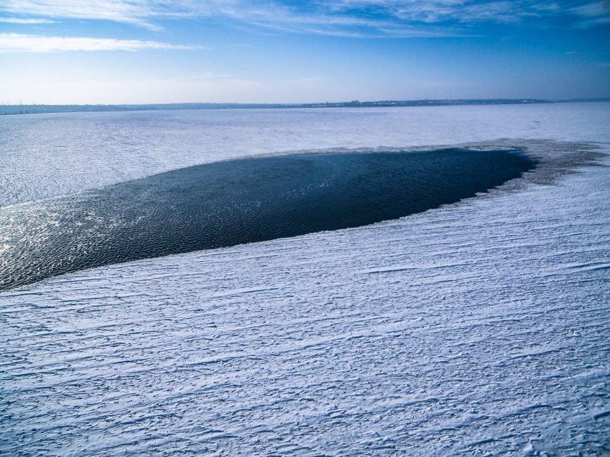 Красивые фото: В Одессе замерз Хаджибейский лиман (ФОТО), фото-4