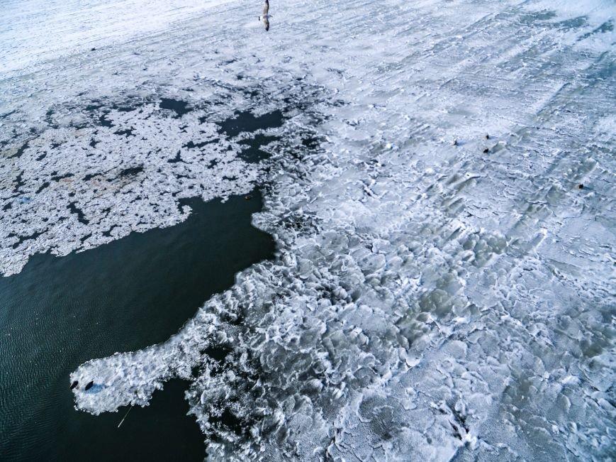 Красивые фото: В Одессе замерз Хаджибейский лиман (ФОТО), фото-6