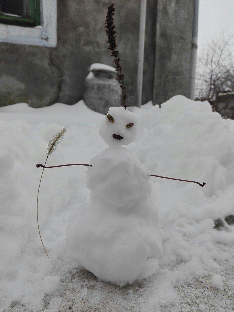 В Одессе из снега вылепили Дарта Вейдера, Крокодила Гену и настоящего мужика (ФОТО), фото-6