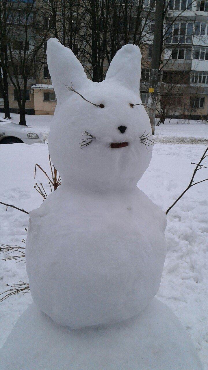 В Одессе из снега вылепили Дарта Вейдера, Крокодила Гену и настоящего мужика (ФОТО), фото-1