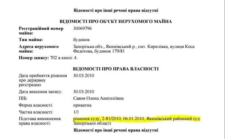 Жена Самардака через суд узаконила самострой - дом в Кирилловке, фото-1
