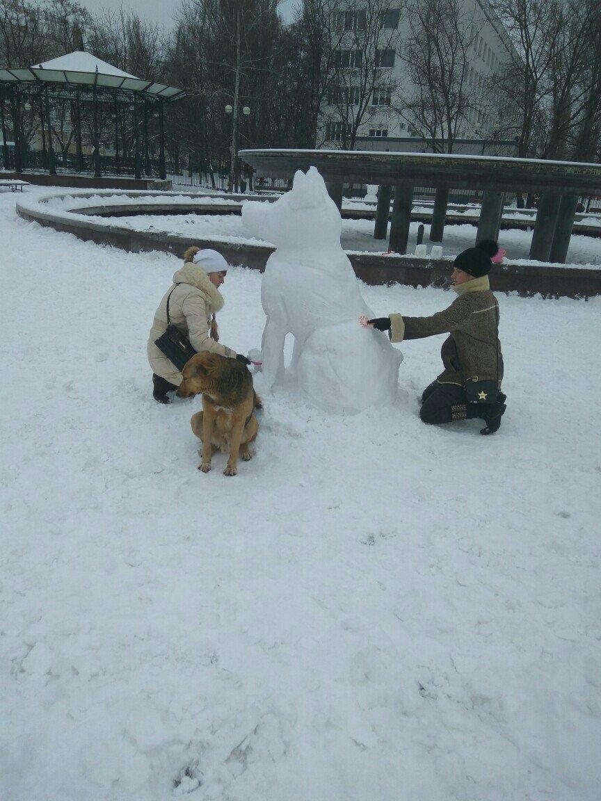В Одессе из снега вылепили собаку: смотри, как классно (ФОТО), фото-1