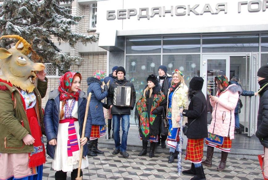 По Бердянску колядующие Козу водили, фото-3
