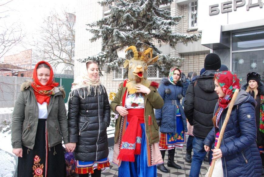 По Бердянску колядующие Козу водили, фото-1