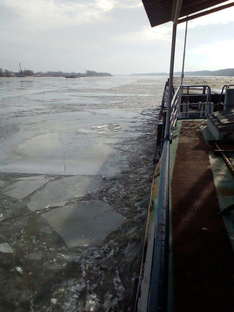 По Дунаю поплыли огромные льдины (ФОТО), фото-2