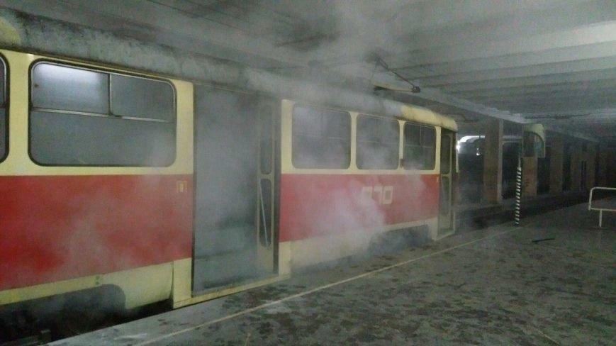 В Кривом Роге задымился вагон скоростного трамвая (ФОТО), фото-2
