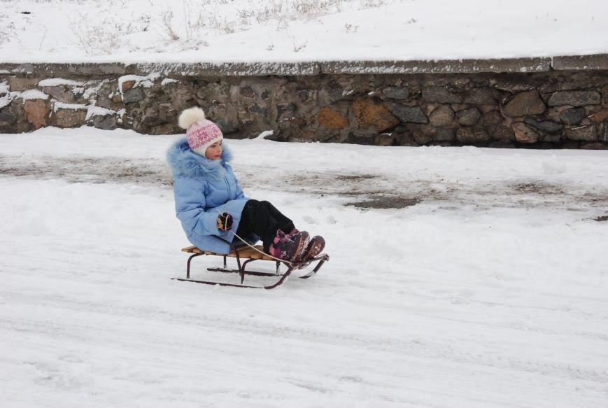 """На """"Средней Горе"""" бердянцы катаются на санках, - ФОТОРЕПОРТАЖ, фото-3"""
