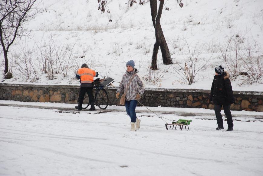"""На """"Средней Горе"""" бердянцы катаются на санках, - ФОТОРЕПОРТАЖ, фото-12"""