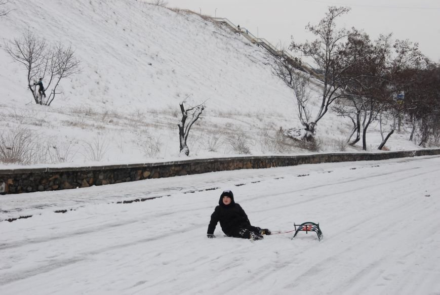 """На """"Средней Горе"""" бердянцы катаются на санках, - ФОТОРЕПОРТАЖ, фото-10"""