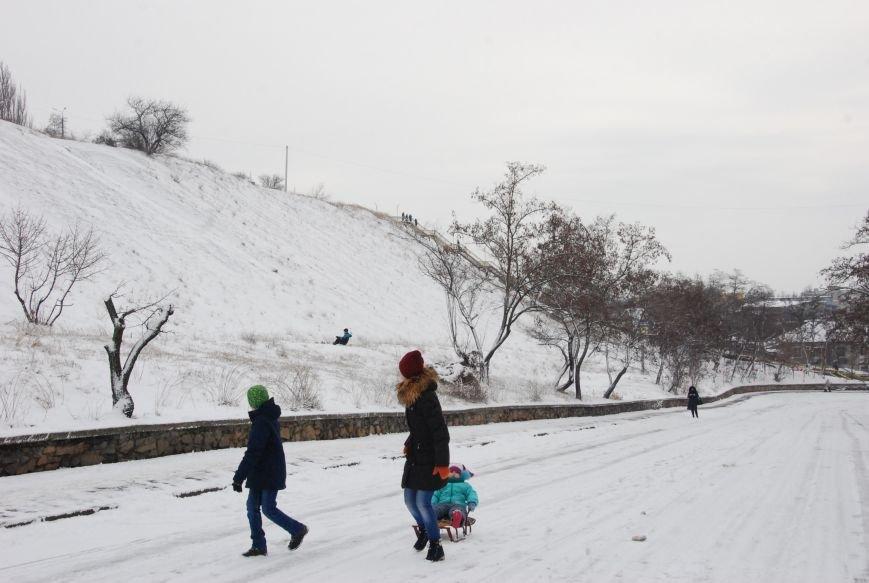 """На """"Средней Горе"""" бердянцы катаются на санках, - ФОТОРЕПОРТАЖ, фото-7"""