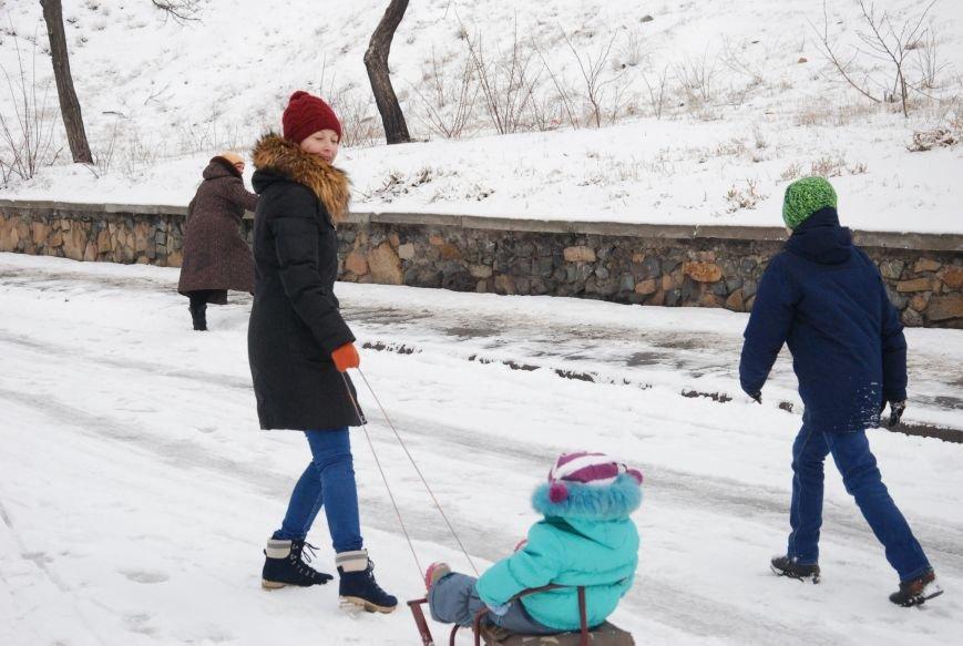 """На """"Средней Горе"""" бердянцы катаются на санках, - ФОТОРЕПОРТАЖ, фото-8"""