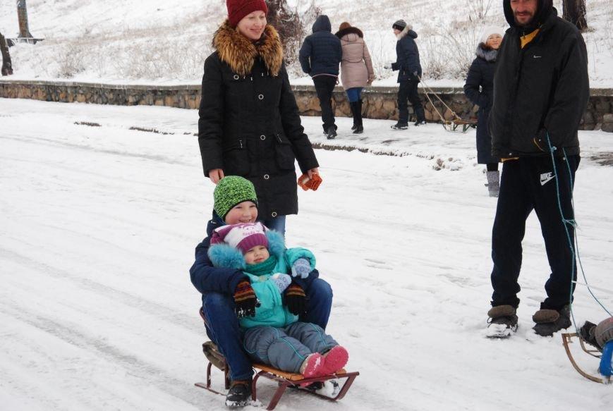 """На """"Средней Горе"""" бердянцы катаются на санках, - ФОТОРЕПОРТАЖ, фото-5"""