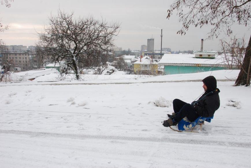 """На """"Средней Горе"""" бердянцы катаются на санках, - ФОТОРЕПОРТАЖ, фото-11"""
