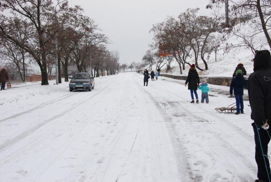 """На """"Средней Горе"""" бердянцы катаются на санках, - ФОТОРЕПОРТАЖ, фото-2"""