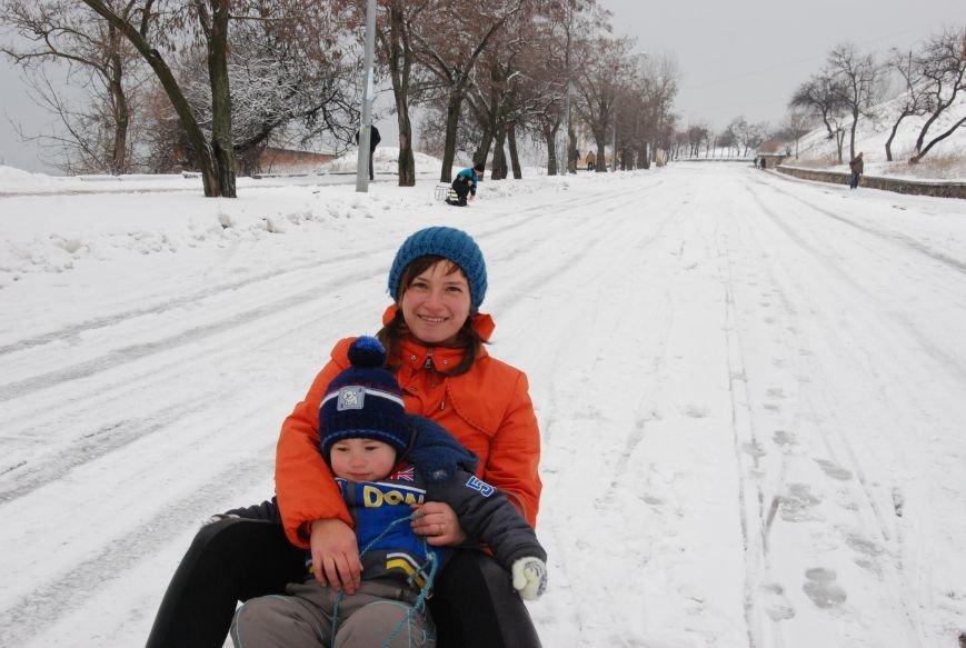 """На """"Средней Горе"""" бердянцы катаются на санках, - ФОТОРЕПОРТАЖ, фото-6"""