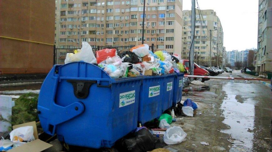 Одесские мусорщики ушли на новогодние каникулы (ФОТО), фото-1