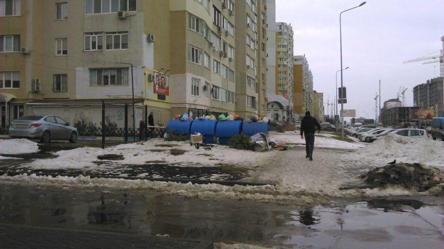 Одесские мусорщики ушли на новогодние каникулы (ФОТО), фото-2
