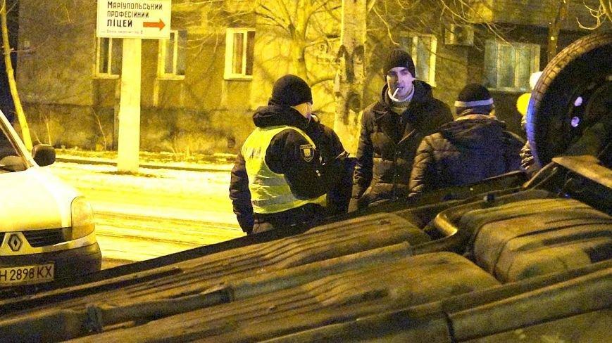 На Левобережье Мариуполя в авто перевернулся пьяный мариуполец (ФОТО), фото-6