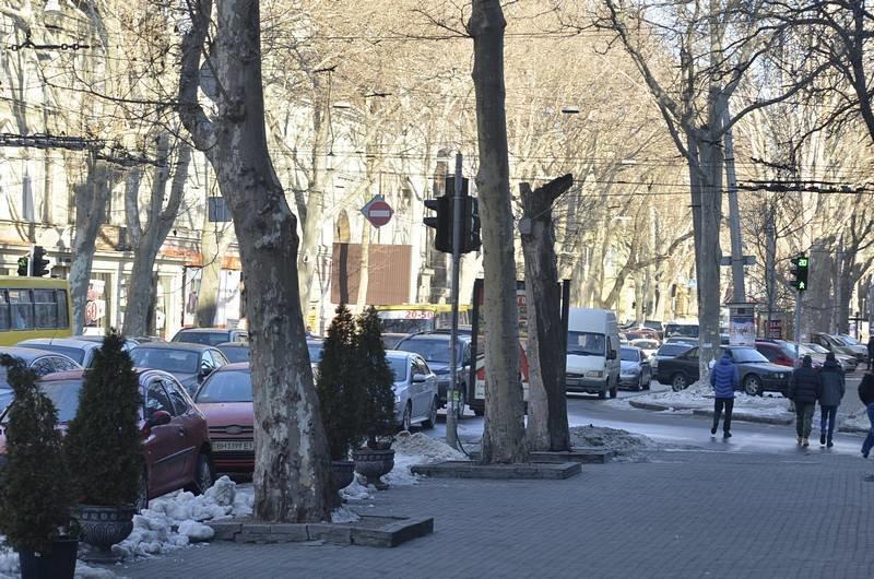 В центре Одессы огромная пробка из-за перекрытия улицы для уборки снега (ФОТО), фото-9