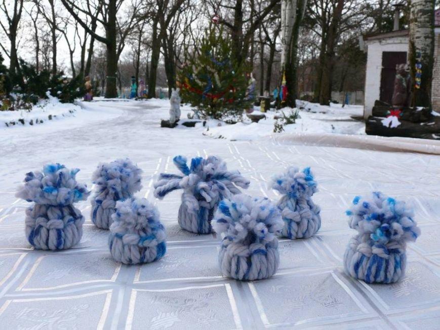 В парке мастерили зимний декор, фото-1