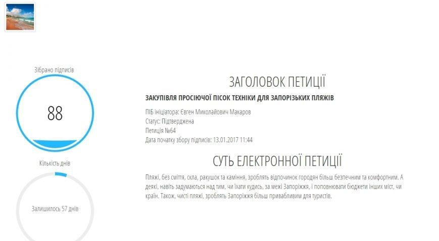 Петиції м. Запоріжжя - ЗАКУПІВЛЯ ПРОСІЮЧОЇ ПІСОК ТЕХНІКИ