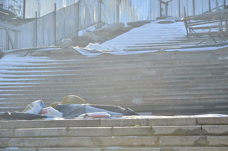 Потемкинскую лестницу затопили, угроза исходит от реставраторов (ФОТО), фото-18