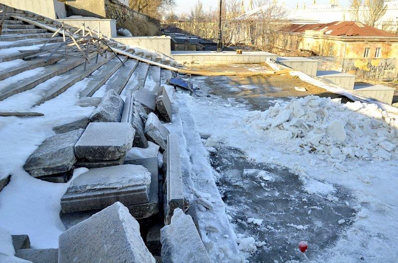 Потемкинскую лестницу затопили, угроза исходит от реставраторов (ФОТО), фото-12