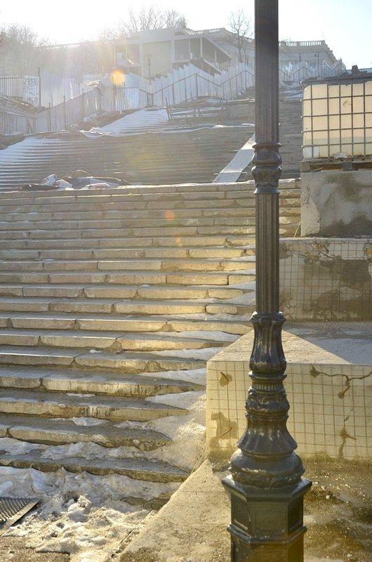 Потемкинскую лестницу затопили, угроза исходит от реставраторов (ФОТО), фото-27