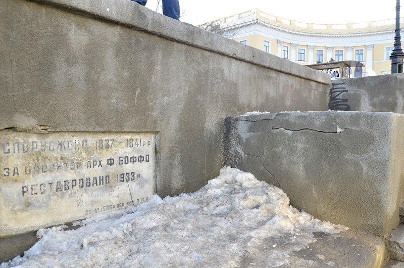 Потемкинскую лестницу затопили, угроза исходит от реставраторов (ФОТО), фото-6