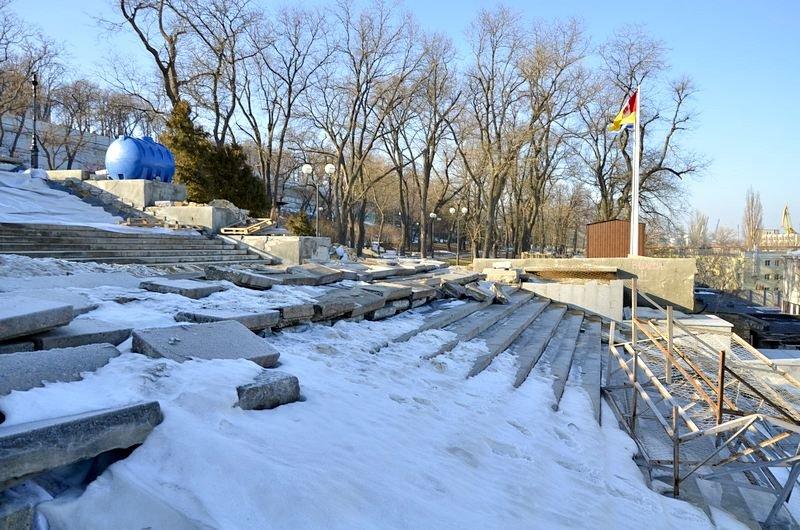 Потемкинскую лестницу затопили, угроза исходит от реставраторов (ФОТО), фото-9