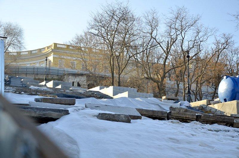 Потемкинскую лестницу затопили, угроза исходит от реставраторов (ФОТО), фото-13