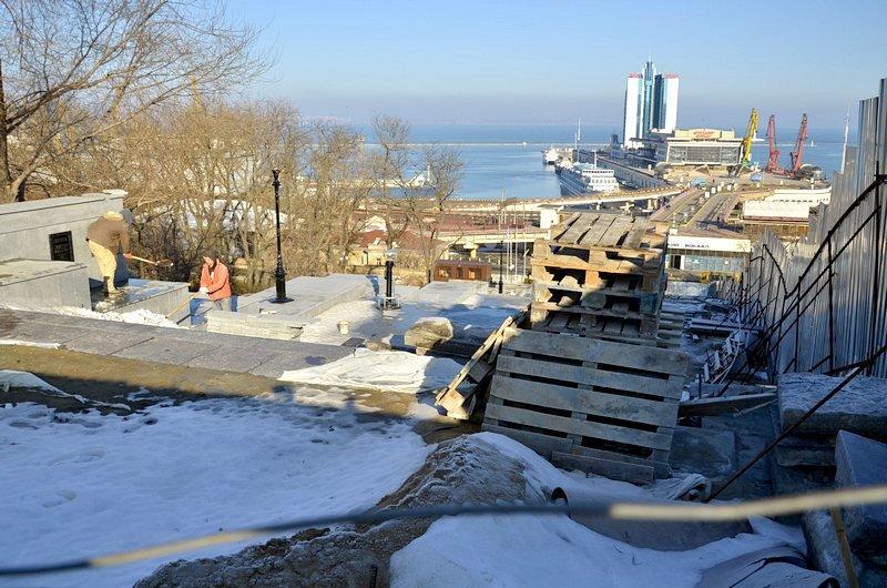 Потемкинскую лестницу затопили, угроза исходит от реставраторов (ФОТО), фото-1