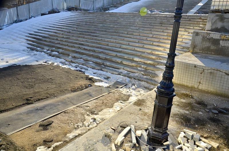 Потемкинскую лестницу затопили, угроза исходит от реставраторов (ФОТО), фото-17