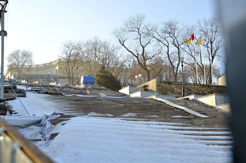 Потемкинскую лестницу затопили, угроза исходит от реставраторов (ФОТО), фото-16
